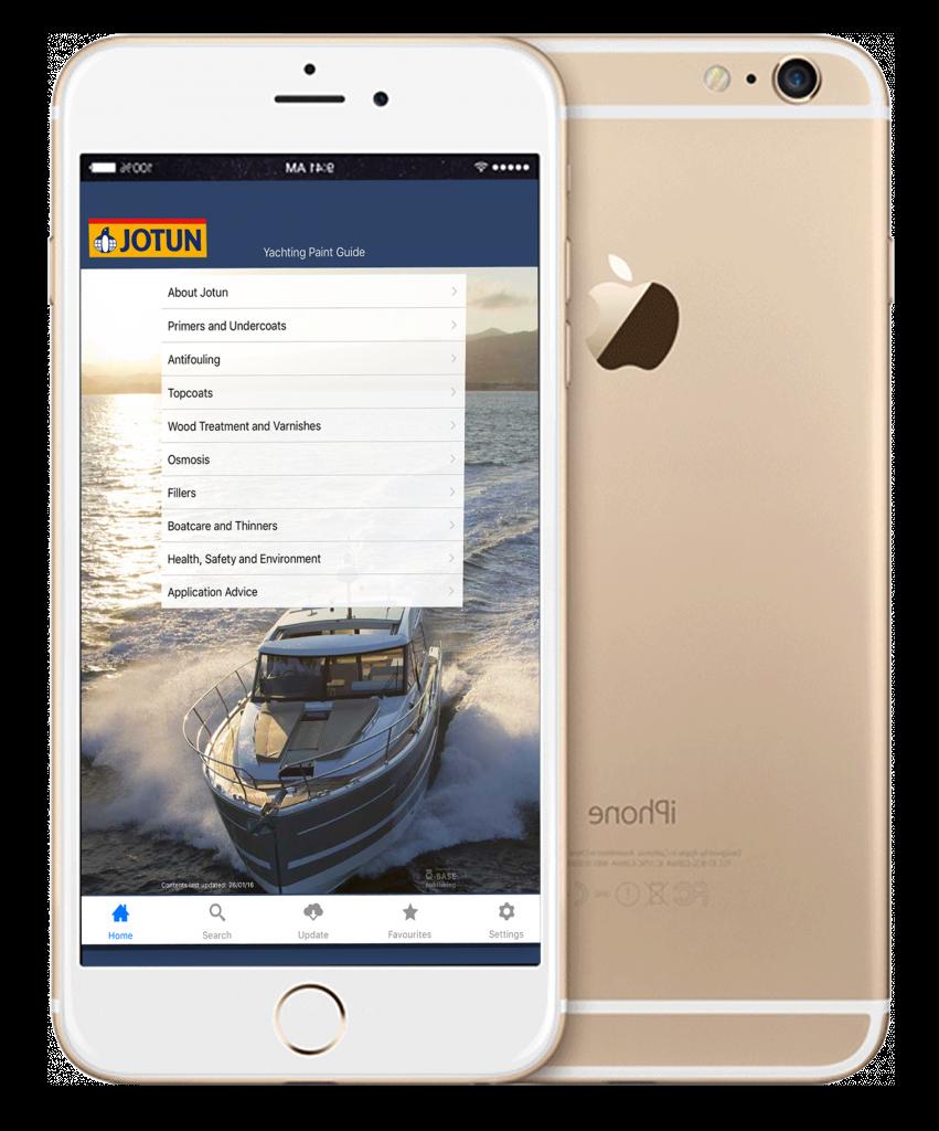 Jotun Yachting app