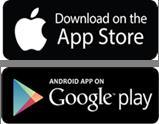 Logo App Store og Google Play