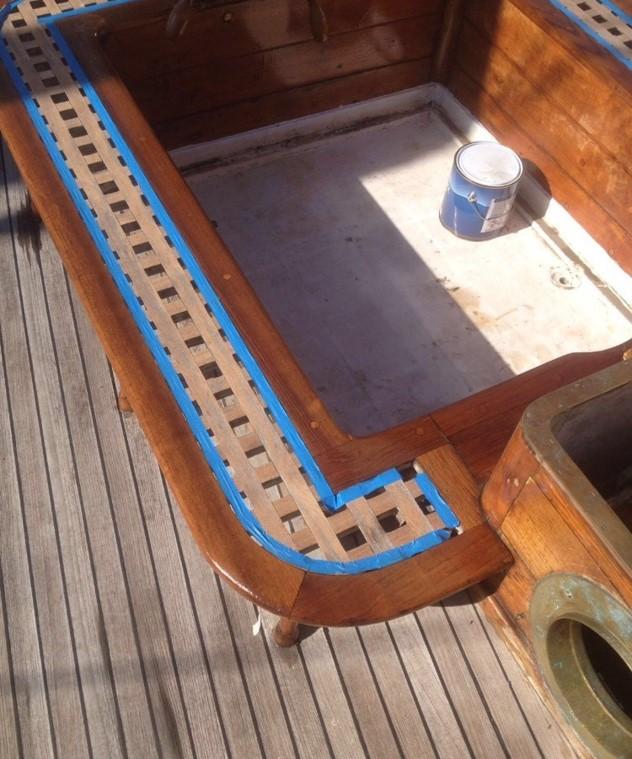 Ravilakk trebåt